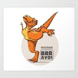 T-rex dancing ballet Art Print