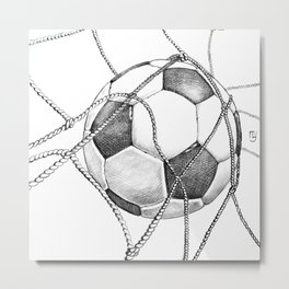 Goal! Metal Print