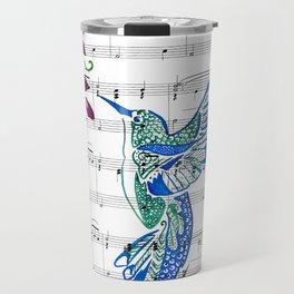 Carrier of Hope (Hummingbird and Wisteria) Travel Mug