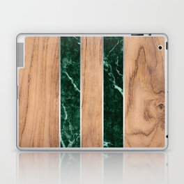 Wood Grain Stripes - Green Granite #901 Laptop & iPad Skin