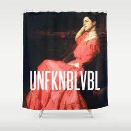 UNFKNBLVBL, Feminist Shower Curtain