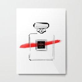 Red Perfume Metal Print