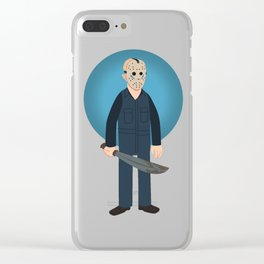 Jason Voorhees Friday the 13th Part 5 (aka Roy Burns) Clear iPhone Case
