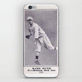 Babe Ruth Vintage baseball card iPhone Skin