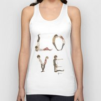 letters Tank Tops featuring Love Letters by Meuphrosyne