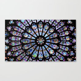 Cathedral Stained Glass Canvas Print