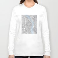 oregon Long Sleeve T-shirts featuring Portland Oregon by Anne E. McGraw