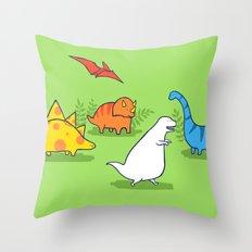 Albinosaur Throw Pillow