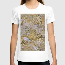 Yellow pattern on glass T-shirt