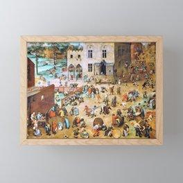 Pieter Bruegel - Childrens Games - Digital Remastered Edition Framed Mini Art Print