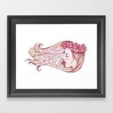 She Walks in Beauty Framed Art Print