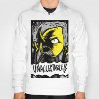 lemongrab Hoodies featuring UNACCEPTABLE!!! by Eevachu
