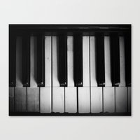 black keys Canvas Prints featuring Keys by Christine Wichert Arts