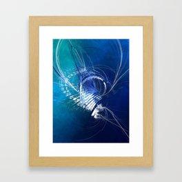 Mercury in Cancer Cardinal Water - #Abstract #Art #Illustration by Menega Sabidussi #society6 Framed Art Print