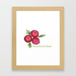 Floral Sweet Floral Framed Art Print