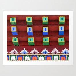 Color blocks Art Print