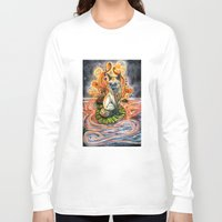 kitsune Long Sleeve T-shirts featuring Lily Kitsune by Care Halverson