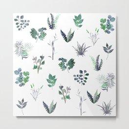 Cold Nature Pattern Metal Print