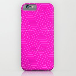 Shocking pink - pink - Modern Vector Seamless Pattern iPhone Case