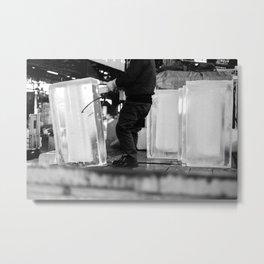 Unloading Ice, Tokyo, Japan Metal Print