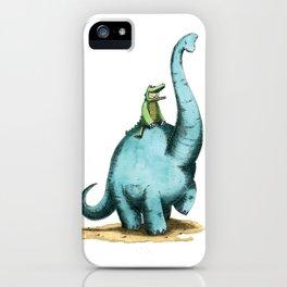 Brachiosaur Rides (Norm the Alligator) iPhone Case