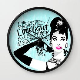 Certain Shades of the Limelight Wall Clock