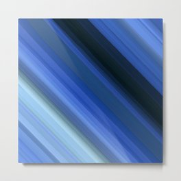 Born Blue Metal Print