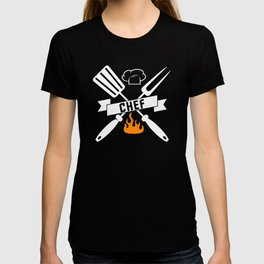BBQ Chef Barbeque Spatula And Fork T-shirt