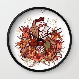 Summer Lillys Wall Clock