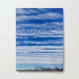 Bands of clouds Metal Print
