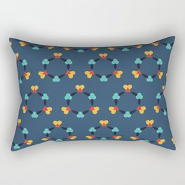 Kaleidescope blue Rectangular Pillow