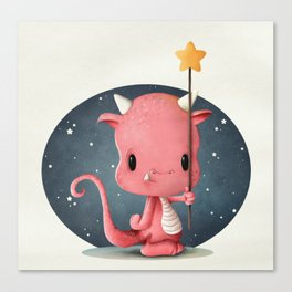 The Cute Monster Canvas Print