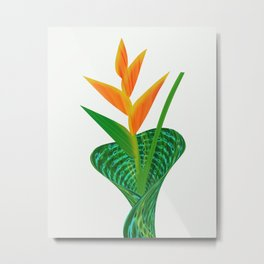 Heliconia Flower Paradise Metal Print
