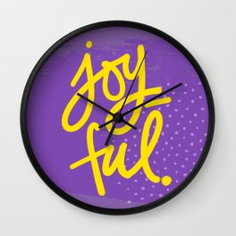 The Fuel of Joy Wall Clock