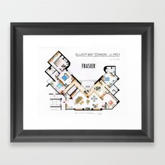 Frasier's Apartment Houseplan - V.2 Framed Art Print