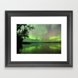 Aurora Borealis Reflection Framed Art Print