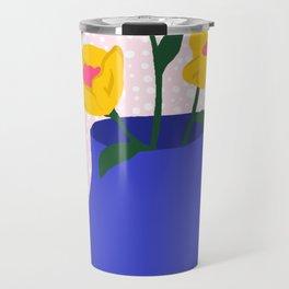 Blue Flower Pot Travel Mug