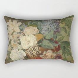 Albertus Jonas Brandt - Flowers In A Terra Cotta Vase Rectangular Pillow