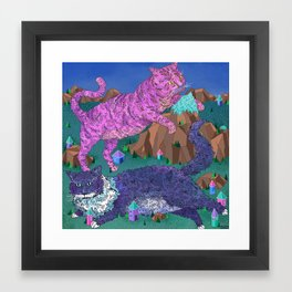 Mountain Cats Framed Art Print