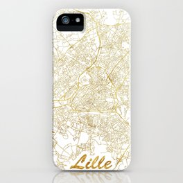 Lille Map Gold iPhone Case