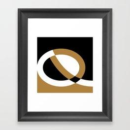 Abstract Uppercase Q Framed Art Print