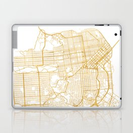 SAN FRANCISCO CALIFORNIA CITY STREET MAP ART Laptop & iPad Skin