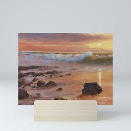 Seascape Sunset Mini Art Print