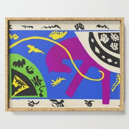 Horse Rider and Clown - Henri Matisse Serving Tray