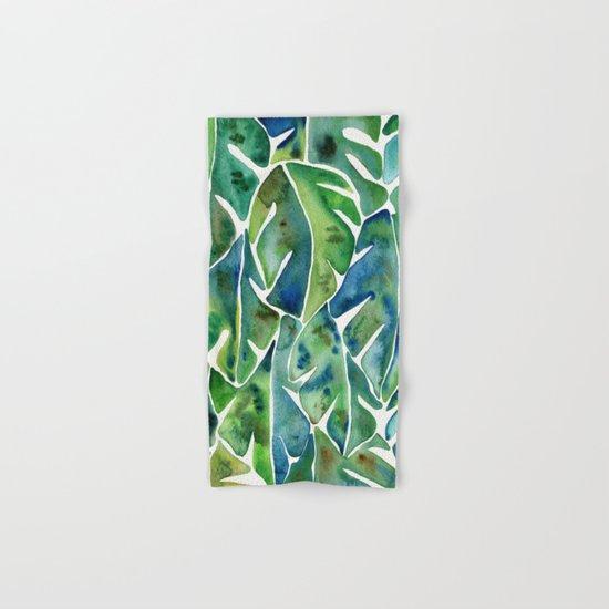 Split Leaf Philodendron – Green Hand & Bath Towel