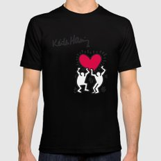 Keith Allen Haring Shirt Mens Fitted Tee X-LARGE Black