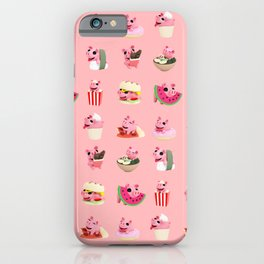 Rosa food collage pink iPhone Case
