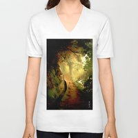 fairytale V-neck T-shirts featuring Fairytale by Nev3r