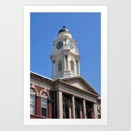 Town Hall Theater Clock Tower, Irvington NY Art Print