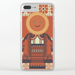 Sunflower Sister Clear iPhone Case